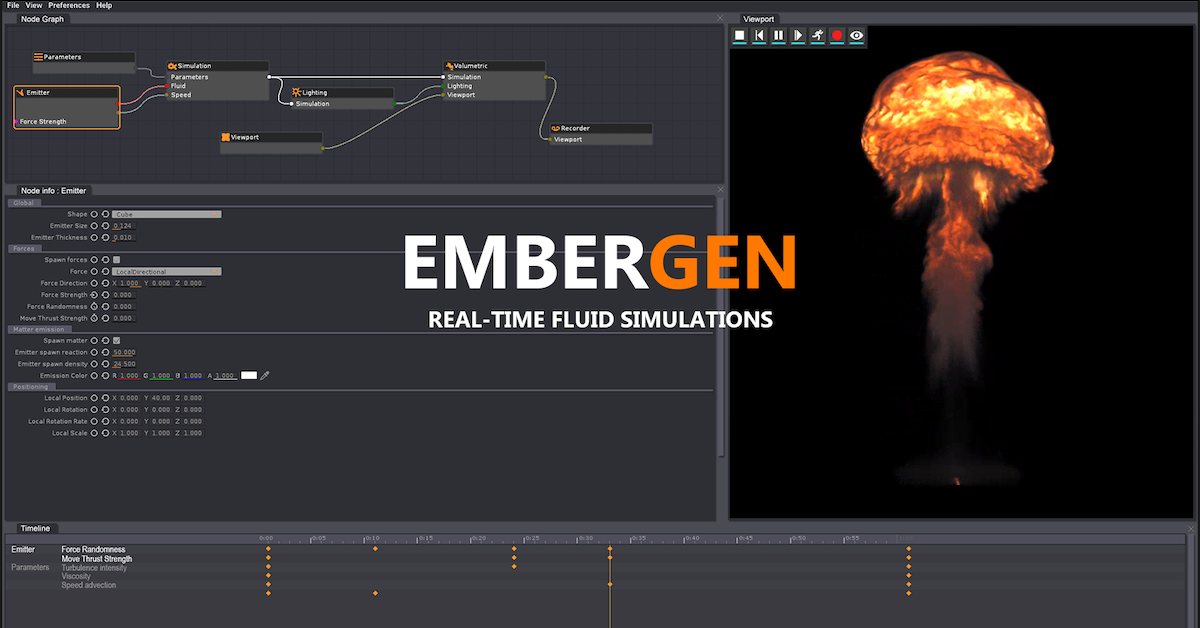 EmberGen – real time volumetric fluid simulation