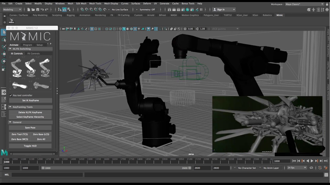 Controlling robots with Maya