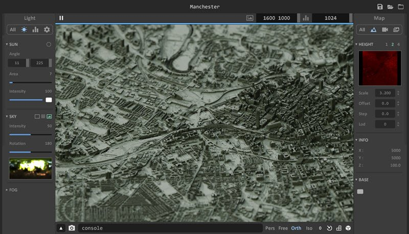 Aerialod – height map renderer
