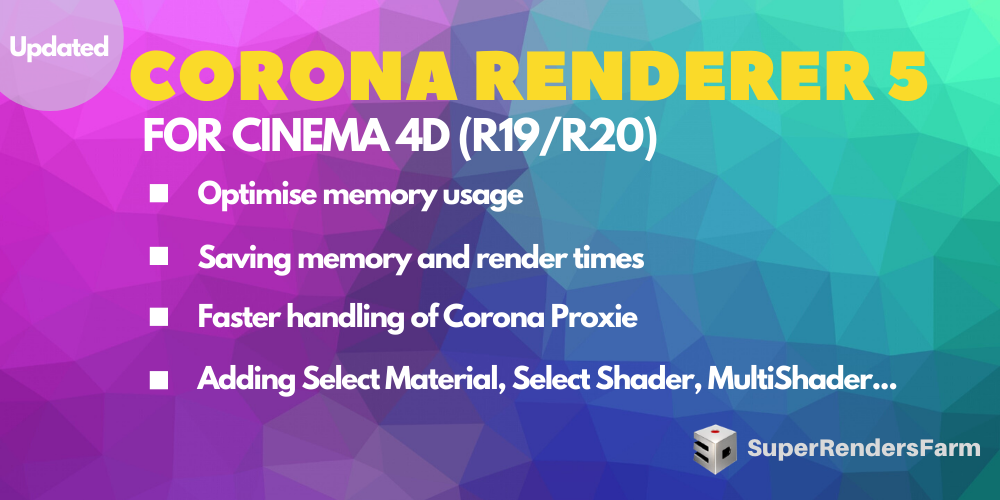 Corona Renderer 5 for Cinema 4D (R19/R20)