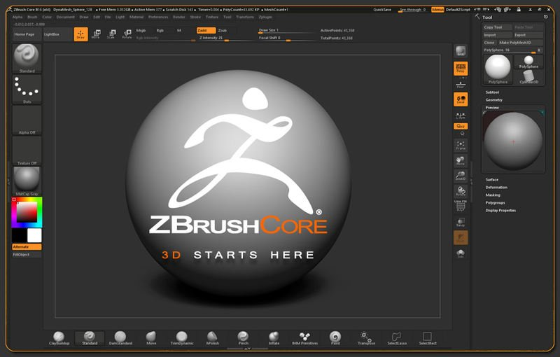 ZBrushCore 2020 released