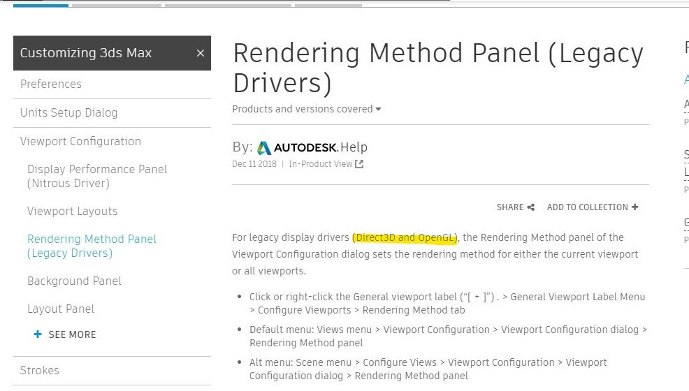 How to change Field of View with numeric value, Rendering Method Panel missing
