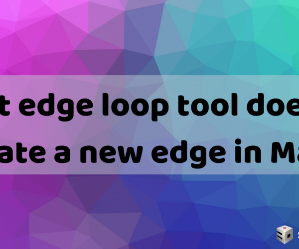 Insert edge loop tool does not create a new edge in Maya