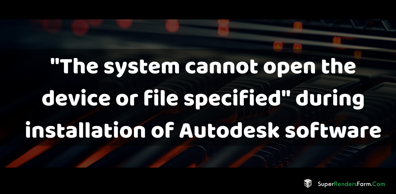 "Error: ""The system cannot open the device or file specified"""