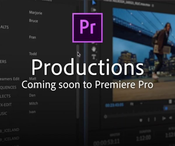 Adobe previews Productions feature for Premiere Pro