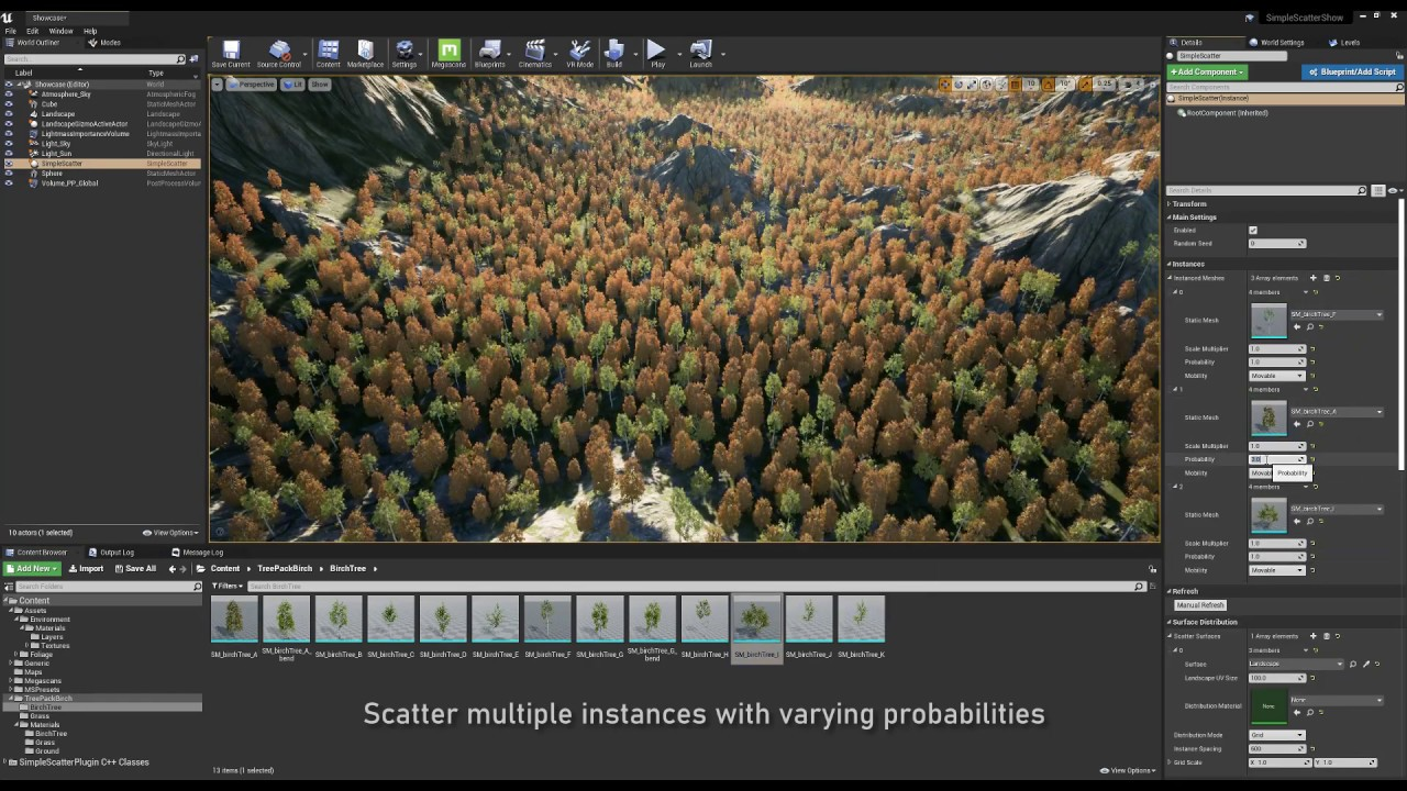 Simple Scatter for Unreal Engine 4