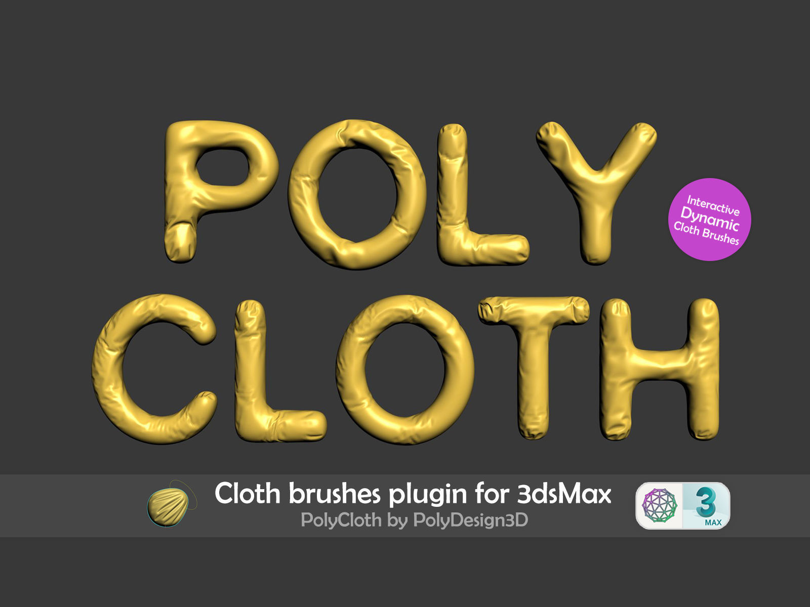 PolyCloth ClothBrush Plugin for 3dsMax 3D model