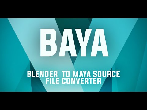 Blender to Maya bridge