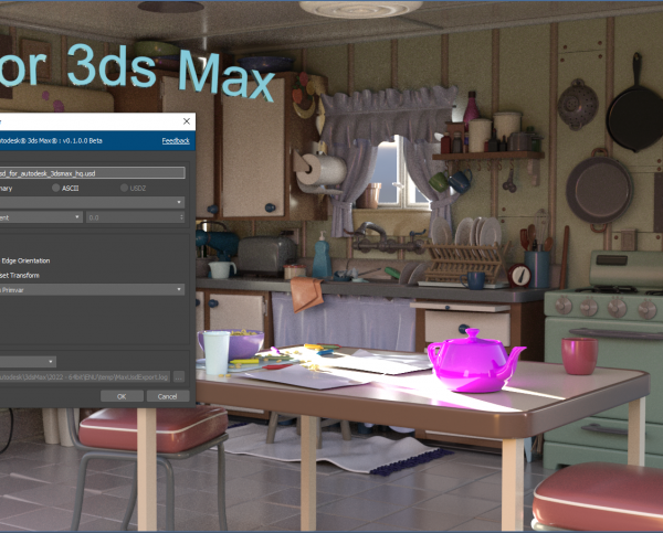 Autodesk releases USD plugin for 3ds Max 2022